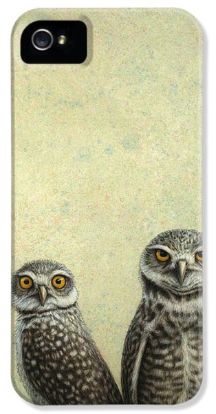Johnson iPhone 5 Cases - Burrowing Owls iPhone 5 Case by James W Johnson