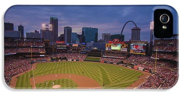 Busch Stadium St. Louis Cardinals Ball Park Village Twilight #3c IPhone 5 / 5s Case by David Haskett