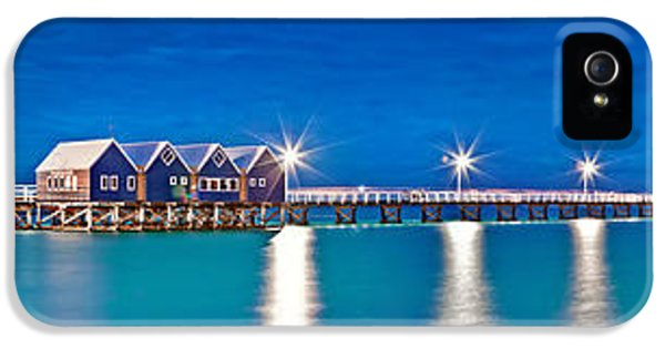 Hut iPhone 5 Cases - Busselton Jetty Full Length Panorama iPhone 5 Case by Az Jackson