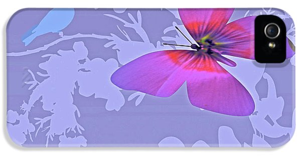 Down In The Garden iPhone 5 Cases - Butterfly Floral  8 iPhone 5 Case by Debra     Vatalaro
