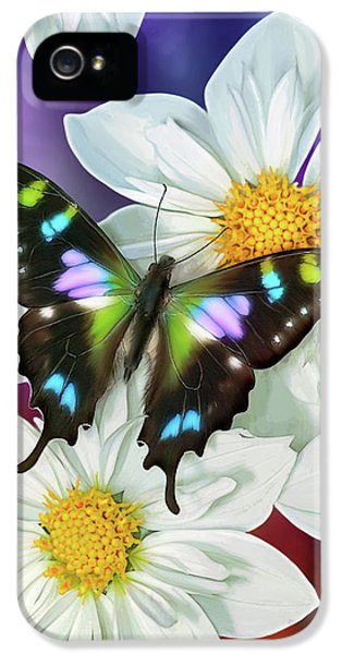 Songbird iPhone 5 Cases - Butterfly Flowers iPhone 5 Case by JQ Licensing