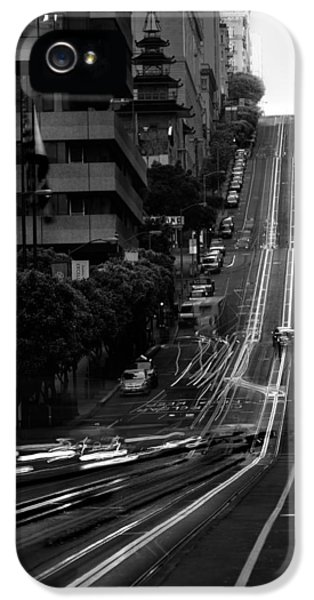 Cable iPhone 5 Cases - California St San Francisco iPhone 5 Case by Steve Gadomski
