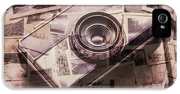 Camera Of A Vintage Double Exposure IPhone 5 / 5s Case by Jorgo Photography - Wall Art Gallery