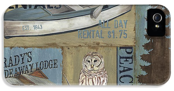 Camping iPhone 5 Cases - Canoe Rentals Lodge iPhone 5 Case by Debbie DeWitt