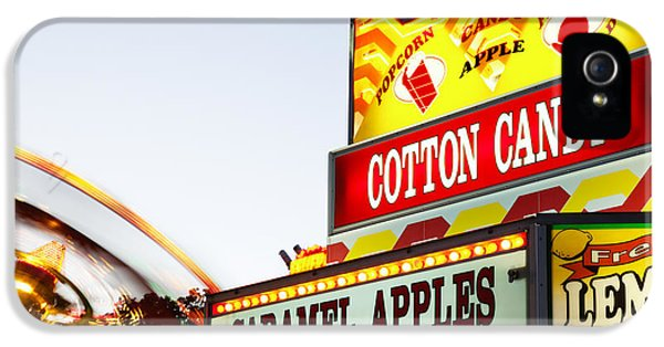 Carnival Concession Stand Sign And Ride IPhone 5 / 5s Case by Paul Velgos