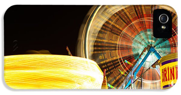 Carnival Rides At Night Picture IPhone 5 / 5s Case by Paul Velgos