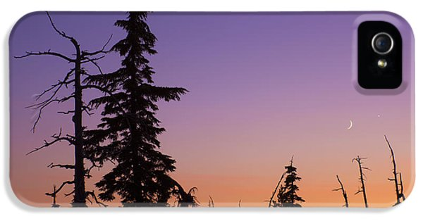 Sillouette iPhone 5 Cases - Cascades Sunset iPhone 5 Case by Christian Heeb