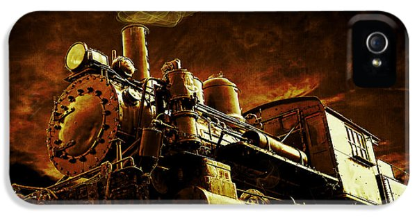 Casey iPhone 5 Cases - Casey Jones and the Cannonball Express iPhone 5 Case by Edward Fielding
