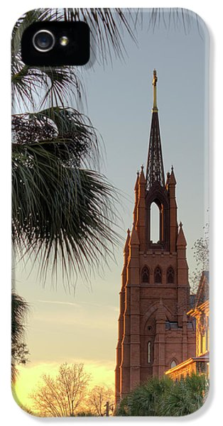John The Baptist iPhone 5 Cases - Cathedral of Saint John the Baptist Charleston iPhone 5 Case by Dustin K Ryan