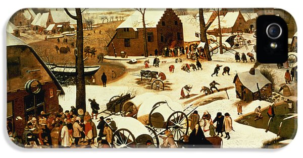 Census At Bethlehem IPhone 5 / 5s Case by Pieter the Elder Bruegel
