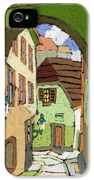 Pastel iPhone 5 Cases - Cesky Krumlov Masna Street iPhone 5 Case by Yuriy  Shevchuk