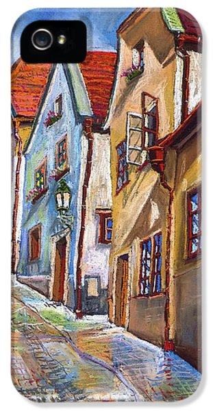 Pastel iPhone 5 Cases - Cesky Krumlov Old Street 2 iPhone 5 Case by Yuriy  Shevchuk