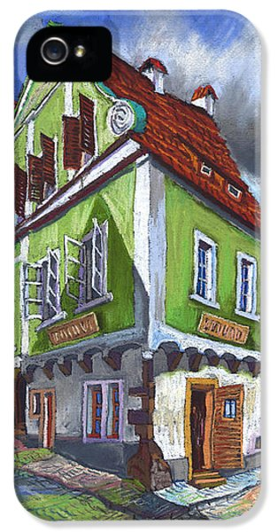 Pastel iPhone 5 Cases - Cesky Krumlov Old Street 3 iPhone 5 Case by Yuriy  Shevchuk