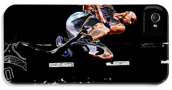 The Dream Team iPhone 5 Cases - Charles Barkley Hanging Around II iPhone 5 Case by Brian Reaves