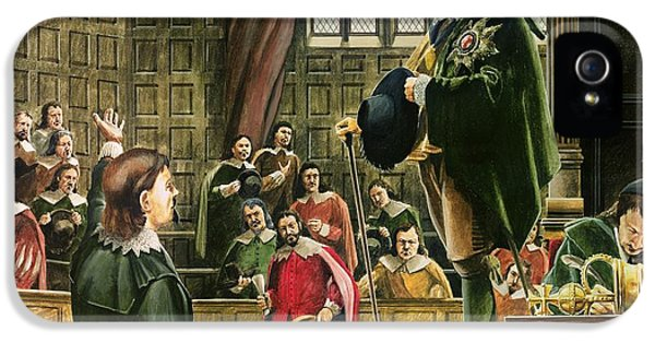 Speech iPhone 5 Cases - Charles I in the House of Commons iPhone 5 Case by English School