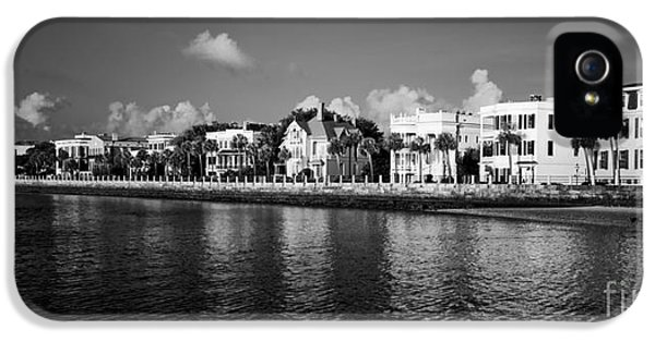 Charleston iPhone 5 Cases - Charleston Battery Row Black And White iPhone 5 Case by Dustin K Ryan