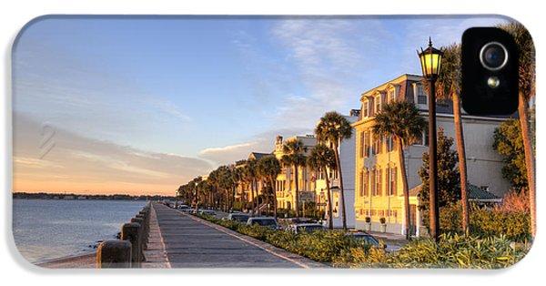 Charleston iPhone 5 Cases - Charleston East Battery Row Sunrise iPhone 5 Case by Dustin K Ryan