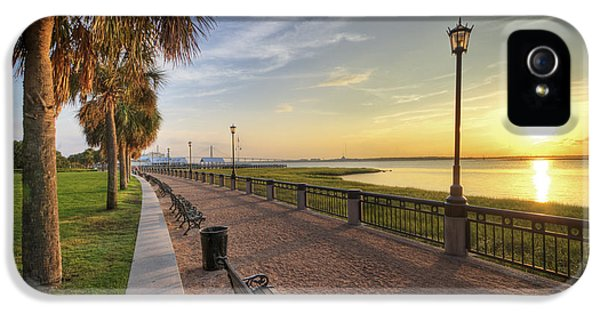 Charleston iPhone 5 Cases - Charleston SC waterfront park sunrise  iPhone 5 Case by Dustin K Ryan