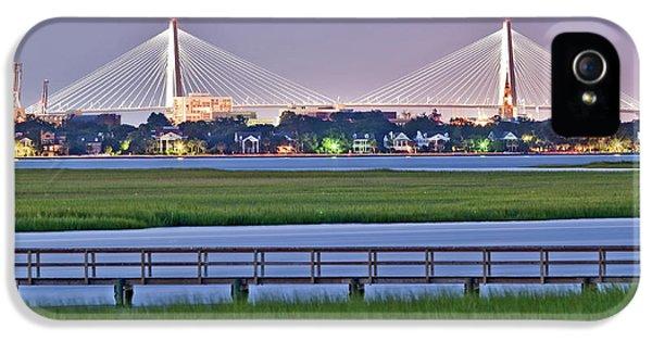 Charleston iPhone 5 Cases - Charleston South Carolina Skyline iPhone 5 Case by Dustin K Ryan
