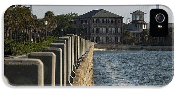 Charleston iPhone 5 Cases - Charleston South Carolina Waterfront Battery iPhone 5 Case by Dustin K Ryan