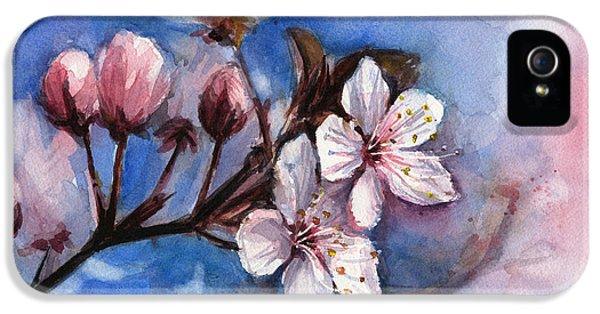 Cherry Blossoms  IPhone 5 / 5s Case by Olga Shvartsur