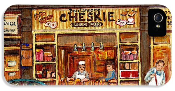 Joint Chiefs iPhone 5 Cases - Cheskies Hamishe Bakery iPhone 5 Case by Carole Spandau