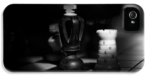 Chessboard iPhone 5 Cases - Chess Pieces iPhone 5 Case by Skitter Photo