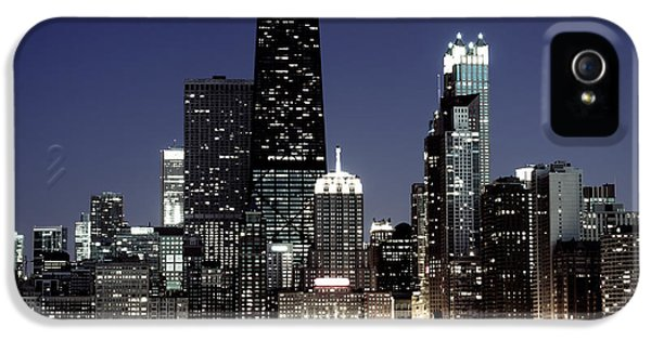 John Hancock Building iPhone 5 Cases - Chicago at Night High Resolution iPhone 5 Case by Paul Velgos