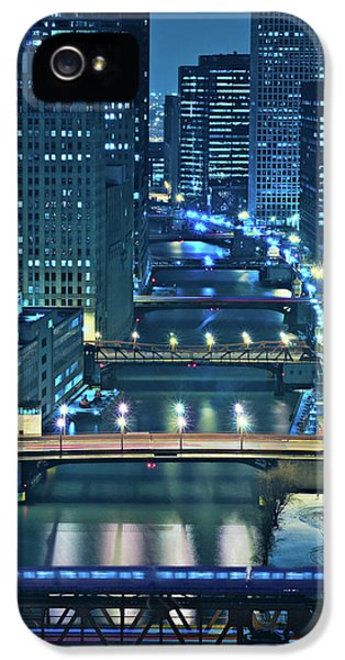 Tourism iPhone 5 Cases - Chicago Bridges iPhone 5 Case by Steve Gadomski