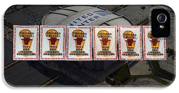 Pippen iPhone 5 Cases - Chicago Bulls Banners Collage iPhone 5 Case by Thomas Woolworth