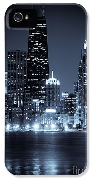 John Hancock Building iPhone 5 Cases - Chicago Cityscape at Night iPhone 5 Case by Paul Velgos