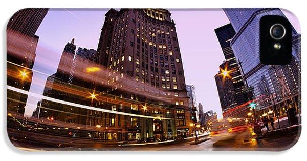 Michgan Avenue iPhone 5 Cases - Chicago dusk time exposure iPhone 5 Case by Sven Brogren