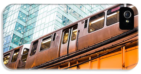 Chicago L Elevated Train  IPhone 5 / 5s Case by Paul Velgos