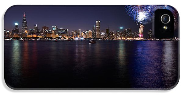 4th July iPhone 5 Cases - Chicago Lakefront Skyline Poster iPhone 5 Case by Steve Gadomski