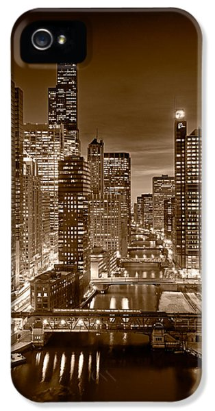 Chicago River City View B And W IPhone 5 / 5s Case by Steve gadomski