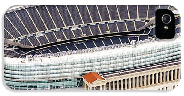 Chicago Soldier Field Aerial Photo IPhone 5 / 5s Case by Paul Velgos