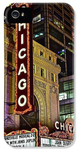 Chicago Theater Aglow IPhone 5 / 5s Case by Frozen in Time Fine Art Photography