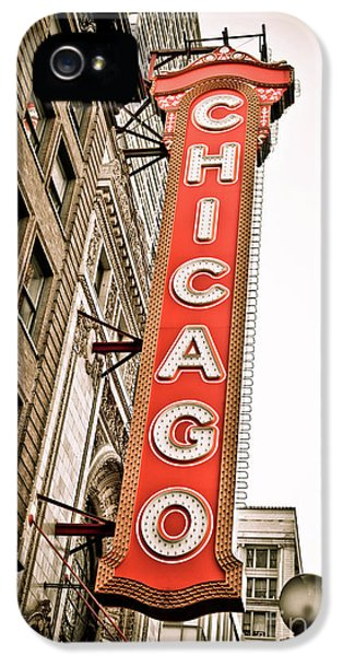 Daytime iPhone 5 Cases - Chicago Theater Sign Marquee iPhone 5 Case by Paul Velgos