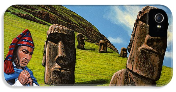 Heritage iPhone 5 Cases - Chile Easter Island iPhone 5 Case by Paul Meijering
