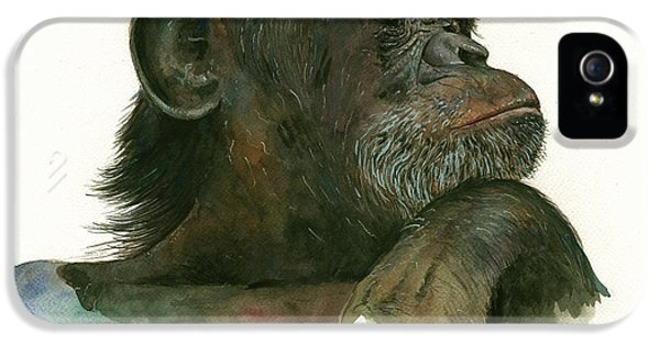 Chimp Portrait IPhone 5 / 5s Case by Juan Bosco