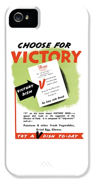 Conservation iPhone 5 Cases - Choose For Victory -- WW2 iPhone 5 Case by War Is Hell Store
