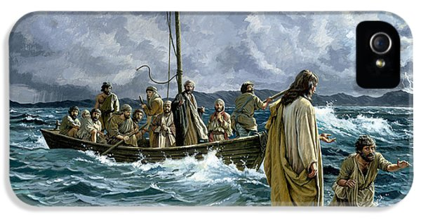 Storm iPhone 5 Cases - Christ walking on the Sea of Galilee iPhone 5 Case by Anonymous