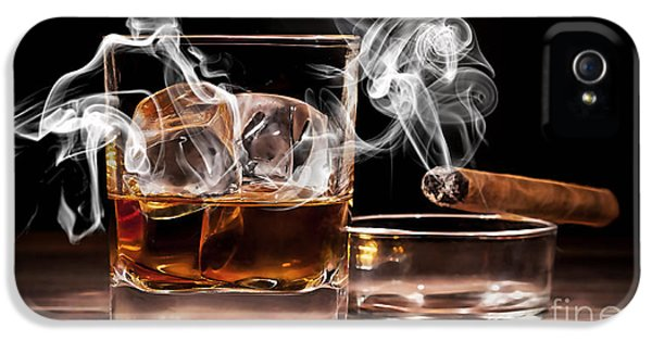 Cigar And Alcohol Collection IPhone 5 / 5s Case by Marvin Blaine