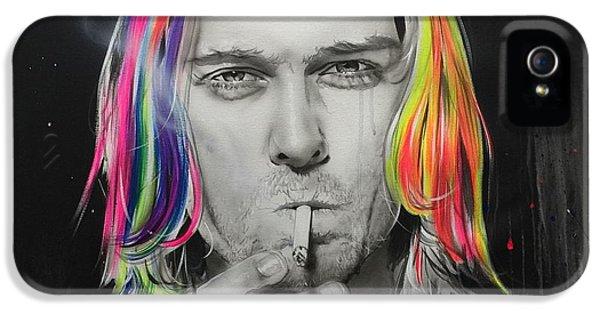 Kurt Cobain iPhone 5 Cases - Cigarette Burns iPhone 5 Case by Christian Chapman Art