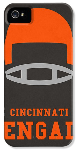 Cincinnati Bengals Vintage Art IPhone 5 / 5s Case by Joe Hamilton