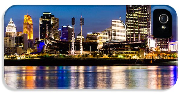 Ballpark iPhone 5 Cases - Cincinnati Skyline at Night  iPhone 5 Case by Paul Velgos