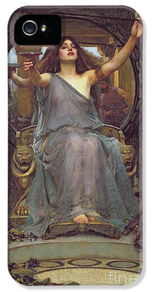 Homer iPhone 5 Cases - Circe Offering the Cup to Ulysses iPhone 5 Case by John Williams Waterhouse