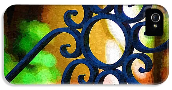 Circle Design On Iron Gate IPhone 5 / 5s Case by Donna Bentley