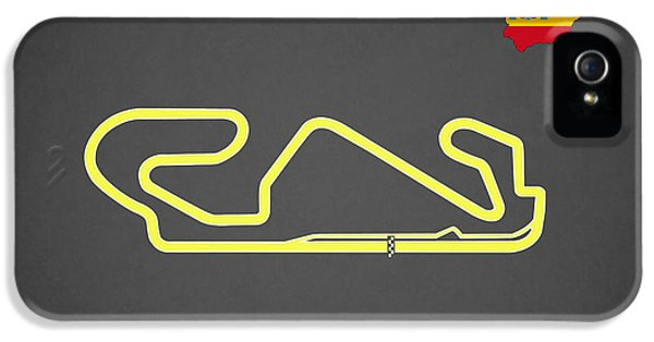 Circuits iPhone 5 Cases - Circuit de Catalunya iPhone 5 Case by Mark Rogan