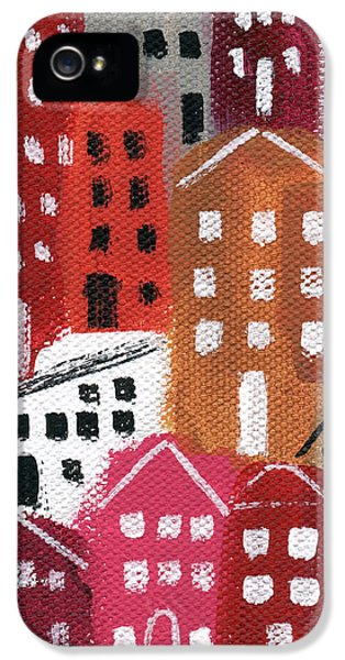 Main Street iPhone 5 Cases - City Stories- Ruby Road iPhone 5 Case by Linda Woods